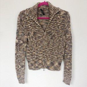 Weekend MaxMara Zipper Knit Yarn Glacca Sweater